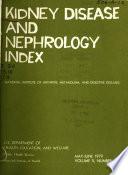 Kidney Disease and Nephrology Index