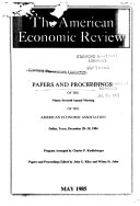 Papers and Proceedings of the    Annual Meeting of the American Economic Association