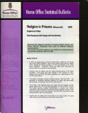 Religion In Prisons 1999 And 2000 England And Wales