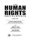 The Human Rights Encyclopedia  Issues and individuals