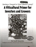 A Viticultural Primer for Investors and Growers