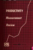 Productivity Measurement Review
