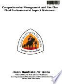 Juan Bautista de Anza National Historic Trail  Comprehensive Management and Use Plan  AZ CA