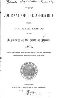 Journal of the Assembly     of the Legislature