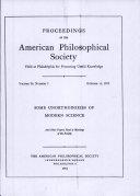 Proceedings, American Philosophical Society (vol. 96, no. 5) Pdf/ePub eBook