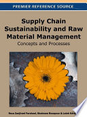 Supply Chain Sustainability and Raw Material Management  Concepts and Processes Book
