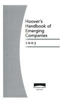 Hoover s Handbook of Emerging Companies 2003 Book PDF