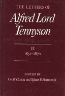 The Letters of Alfred Lord Tennyson  1821 1850