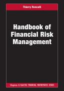 Pdf Handbook of Financial Risk Management Telecharger