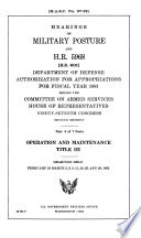Hearings on Military Posture and H.R. 5965 (H.R. 6030), Department of Defense Authorization for Appropriations for Fiscal Year 1983 Before the Committee on Armed Services, House of Representatives, Ninety-seventh Congress, Second Session