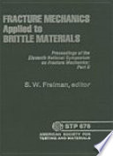 Fracture Mechanics Applied to Brittle Materials