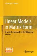 Linear Models in Matrix Form [Pdf/ePub] eBook