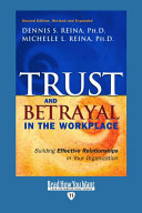Pdf Trust & Betrayal in the Workplace