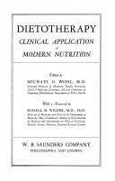 Dietotherapy  Clinical Application of Modern Nutrition Book