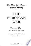 The New York Times Current History, The European War by  PDF