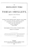 The Miscellaneous Works of Tobias Smollett ... With Memoir of the Author, by Thomas Roscoe ebook