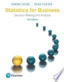 Statistics For Business PDF