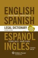 Espa  ol Ingl  s   Ingl  s Espa  ol Legal Dictionnary