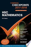 Cover of Cambridge Checkpoints HSC Mathematics 2017-18