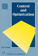 Control and Optimization