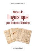 Pdf Manuel de linguistique pour les textes littéraires - 2e éd. Telecharger