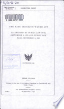 The Safe Drinking Water Act Book PDF