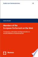 Members of the European Parliament on the Web