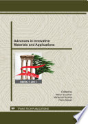 Advances In Innovative Materials And Applications Book PDF