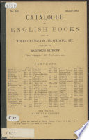 Catalogue of English Books and of Works on England  Its Colonies      Offered by Martinus Nijhoff  The Hague