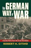 The German Way of War Book PDF