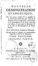 Nouvelle démonstration évangélique de John Leland