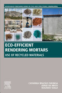 Eco efficient Rendering Mortars Book