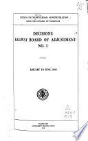 Decisions of Railway Board of Adjustment