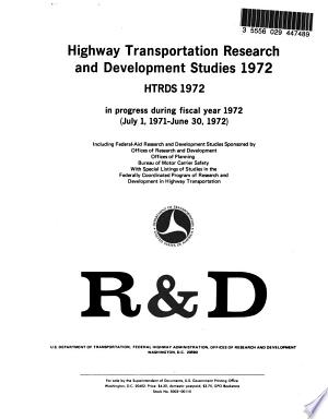 Read Online Highway Transportation Research and Development Studies Full Book