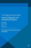 Statutory Regulation and Employment Relations