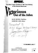 Victorious Out of the Ashes Book