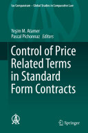 Pdf Control of Price Related Terms in Standard Form Contracts Telecharger