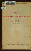 Index to Early American Periodicals to 1850