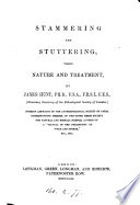 Stammering and stuttering, their nature and treatment