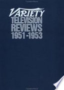 """Variety and Daily Variety Television Reviews, 1993-1994"" by Prouty"