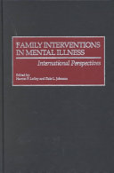 Family Interventions in Mental Illness