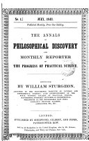 The Annals Of Philosophical Discovery And Monthly Reporter Of The Progress Of Science And Art