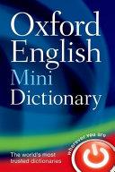 Oxford English Mini Dictionary Book