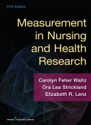 Measurement in Nursing and Health Research, Fifth Edition