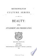 Beauty  Its Attainment and Preservation Book PDF