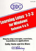 Learning Series Book for Lotus 1 2 3 Release 5 for Windows