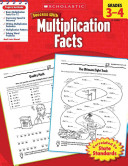 Scholastic Success With Multiplication Facts  Grades 3 4