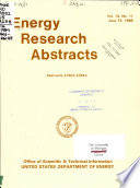Energy Research Abstracts  , Volume 14,Edições 11-12