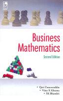 Business Mathematics - 2Nd Edn