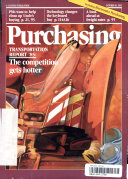 PURCHASING TRANSPORTATION REPORT 85 THE COMPETITION GETS HOTTER Book